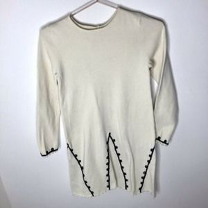 Hanna Andersson Knit Embroidered Sweater Dress